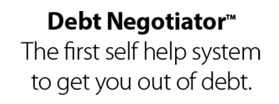 Debt Negotiator. The first self help system to get you off debt.